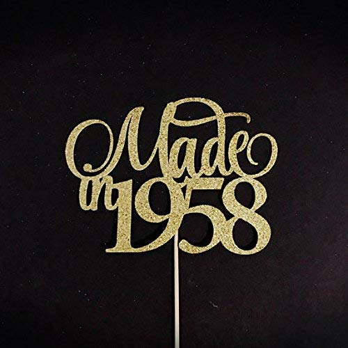 Amazon Made In 1958 Cake Topper 60th Birthday Anniversary 60 Handmade