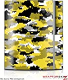 Sony PS3 Skin WraptorCamo Digital Yellow