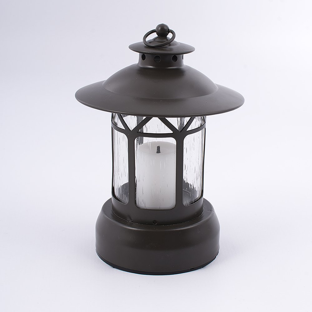 Battery Candle Metal Outdoor Lantern - Flickering Effect - 600 hours Battery life Paradise