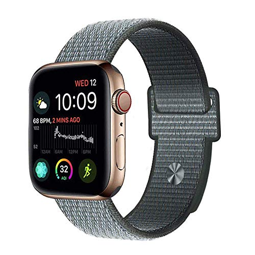 - Leetoyi Sport Wristbands Compatible for Sport Watch Straps, Soft Lightweight Breathable Woven Nylon Sport Loop Replacement Bands Series 4 Series 3 Series 2 Series 1 (Sky Grey, 38MM/40MM)