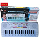 Ocamo 37 Keys Music Keyboard for Kids and Beginners Children Multifunctional Mini Electronic Piano with Microphone Digital Music Electronic Piano Gift