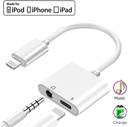 Headphone Jack Adapter for iPhone 11 Dongle Charger 3.5mm Jack AUX Converter Audio Adapter for iPhone 11 8//8 Plus 7//7 Plus Accessories Compatible with All iOS System X//XR//XS//XS Max