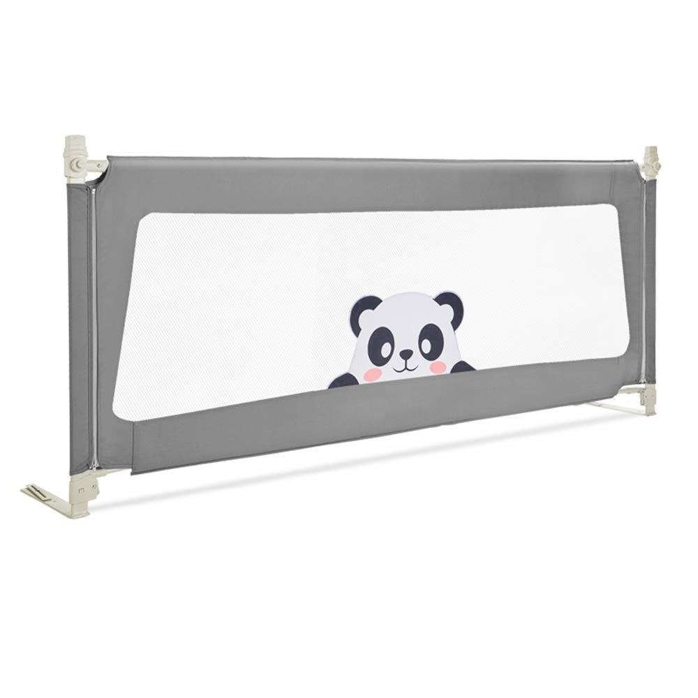 LHA ベッドガードフェンス ベッドの塀1.5-2.0 Mの赤ん坊の粉砕抵抗力がある塀の縦の持ち上がる普遍的なベッドのバッフル (色 : 黒, サイズ さいず : L-180cm) L-180cm 黒 B07PRNNRRF