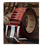 Mens Cow Genuine Luxury Leather Belts Strap Male Pin Buckle Big Size 100-130cm 3.8 Width