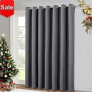 NICETOWN Patio Sliding Door Curtain - Wide Blackout Curtains Keep Warm Draperies Grey Sliding  sc 1 st  Amazon.com & Amazon.com: NICETOWN Patio Sliding Door Curtain - Wide Blackout ...