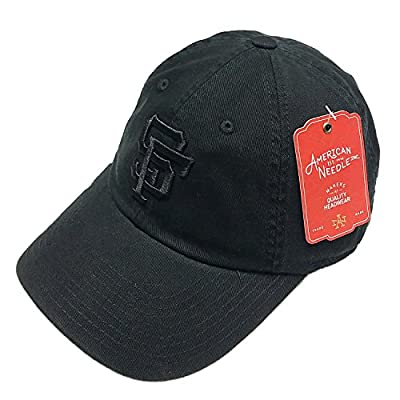 American Needle MLB San Francisco Giants All Black BallPark Tonal Cotton Adjustable Cap