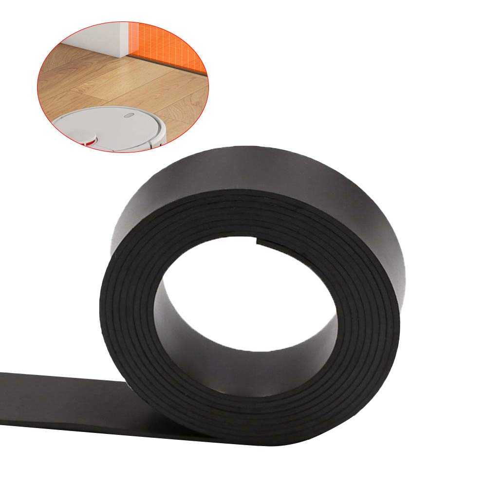 wuliLINL????2019 Magnetic Boundary Markers Robot Vacuum Cleaner Black Alternative Accessories Magnetic Strip Tape for Millet MI Robot Vacuum Cleaner