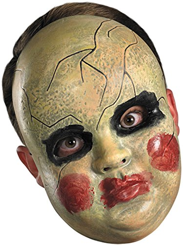 Smeary Baby Doll Face Mask Costume Accessory -