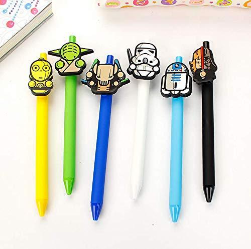 (Astra Gourmet Set of 6 Star Wars Series Design Gel Pen/Stationery Pen/Writing Caneta Office School Supplies Birthday Gift)