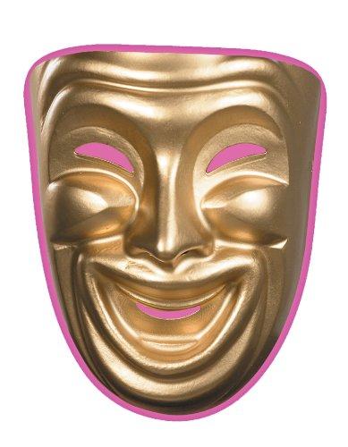 [10474 (Comedy) Comedy Mask Smile Gold] (Drama Mask Costume)