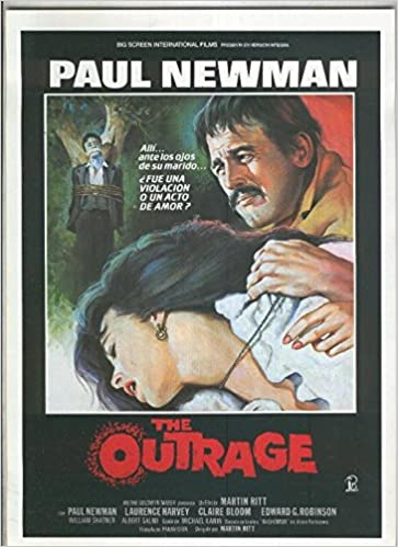 Caratula cine: The Outrage copn Paul Newman y Laurence ...