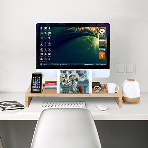 60%OFF Computer Monitor Stand Riser   Laptop Stand And Desk Organizer With Keyboard  Storage