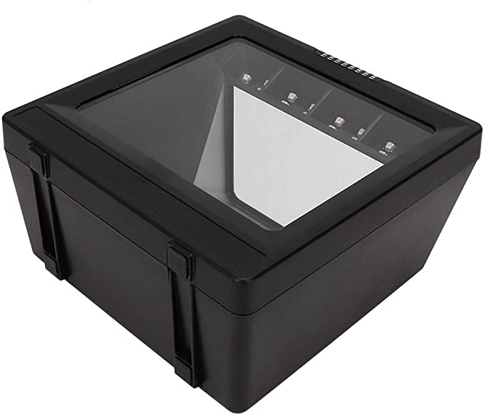 Xinwoer Lector de c/ódigo de Barras de pl/ástico ABS esc/áner de c/ódigo de Barras 2D 9900A Luz LED roja Lector de c/ódigo de Barras de Plataforma Grande para Pago PC detecci/ón autom/ática