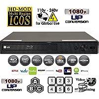 LG BPM25 Multi System All Zone Region Free Blu Ray DVD Player + 6FT HDMI cable + EU Plug Adapter Bundle