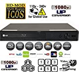 LG BPM25 Multi System All Zone Region Free Blu Ray DVD Player + 6FT HDMI cable + EU Plug Adapter Bundle