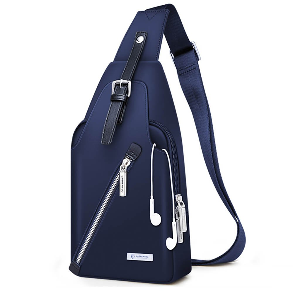LAORENTOU Men Shoulder Bag Chest Bag Waterproof Crossbody Bag Messenger Bag