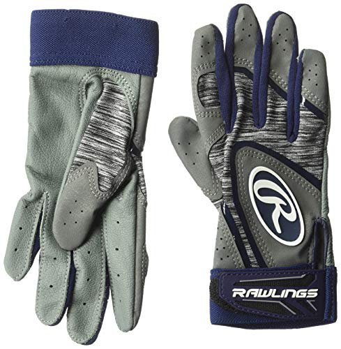 Rawlings 5150 Baseball Batting Gloves, Adult Large, Navy