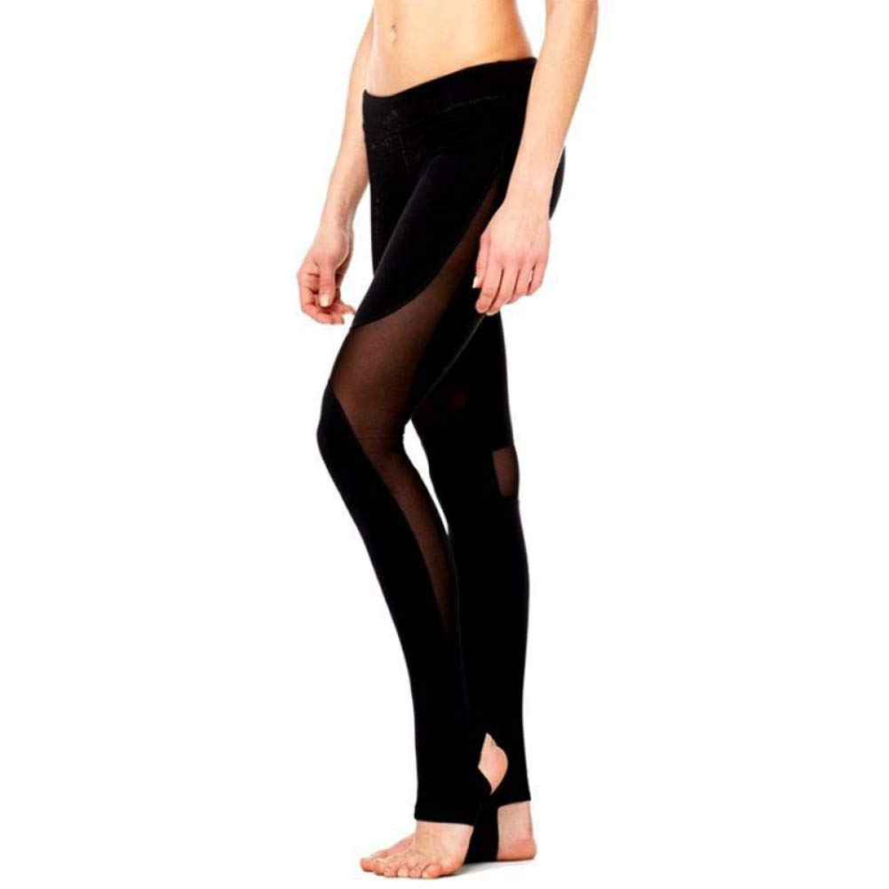 YUJIAKU Yogahosen/Enge Hosen/Atmungsaktive/Elastische Schwarz mesh Yoga Hosen hohe Taille sportbekleidung Gym Leggings hohe Taille Fitness Sport Leggins Clothing Frauen laufbekleidung