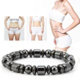 Magnetic Therapy Bracelet Unisex Stylish Weight Loss Black Stone Health Care