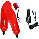 ThermaCELL Rechargeable Remote Controlled Heated Shoe Insole with Car Charger
