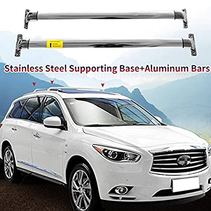promo code ac20d d875d Image Unavailable. Image not available for. Color  Cross Bar fit for  Infiniti JX35 QX60 2013-2017 Crossbar Roof Rail Rack Stainless Steel