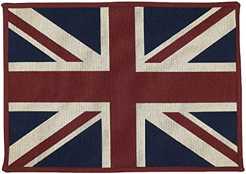 - Vintage House England British Flag Tapestry Door Mat/Small Area Rug -19 Inch x 27 Inch