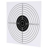 GearOZ Airsoft Target Papers for Pellet Trap Pellet Catcher Target Holder, Pack of 100