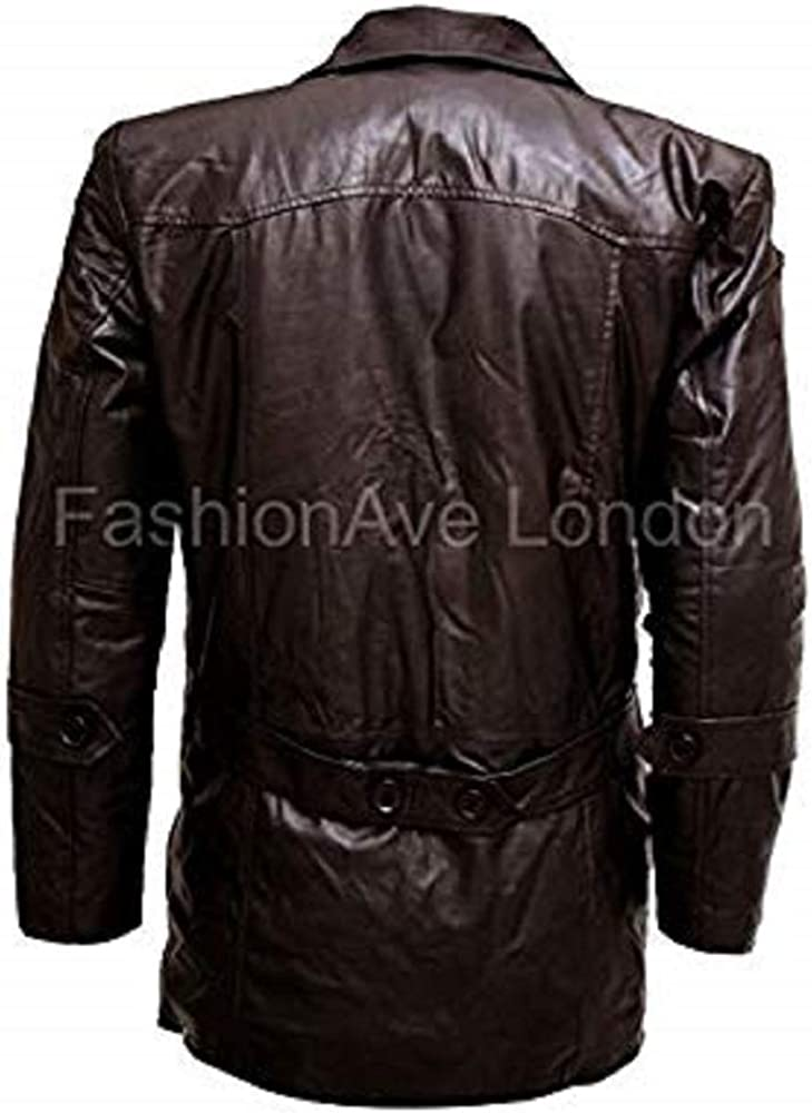 FashionAve London Mens Liam Neeson Taken Real Leather Bryan Mills Jacket