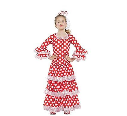 Disfraz de Sevillana roja con lunares para niña: Amazon.es ...