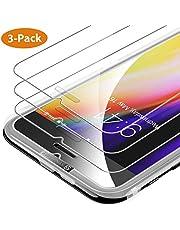 Syncwire Verre Trempé iPhone 8/7/6s/6 [Lot de 3] [Face ID Complètement Protégé] Film Protection Ecran Vitre HD, Dureté 9H pour iPhone 8/7/6s/6 [Incassable, sans Bulles, 3D-Touch, Facile à Installer]