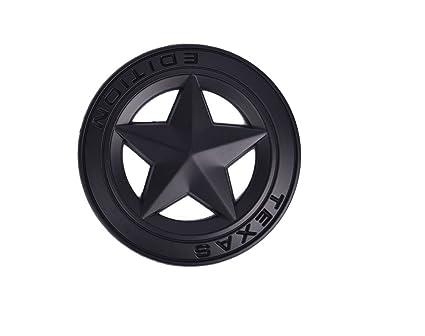 Aimoll 1pc 3D Metal TEXAS EDITION Star Car Emblem Bagde, For JEEP Dodge  Mercedes BMW