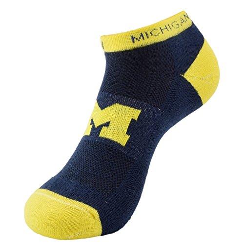 Michigan Wolverines NCAA Adult Men's Spirit Low Cut Socks (Adult (Michigan Wolverines Stocking)