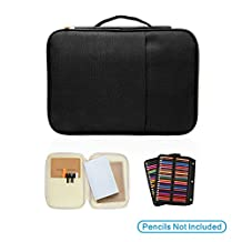 Porfolio Case for 100 Slots Pencil Layer - compatible with YOUSHARES 210 Slots Pencil Case for Prismacolor Watercolor Pencils, Crayola Colored Pencils, Marco Pens and Cosmetic Brush by YOUSHARES® (100 slots Black)