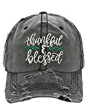 HBS001 Thankful and Blessed Black Washed Cotton Vintage Ball Cap.