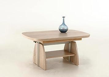 lifestyle4living Couchtisch aus Holz, Eiche-Sonoma, beidseitig ...