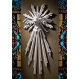 28'' Museum Replica Dove Christian Symbol Holy Spirit Christian Natural Marble Wall Sculpture Statue