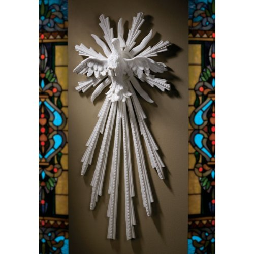 28'' Museum Replica Dove Christian Symbol Holy Spirit Christian Natural Marble Wall Sculpture Statue by Artistic Solutions