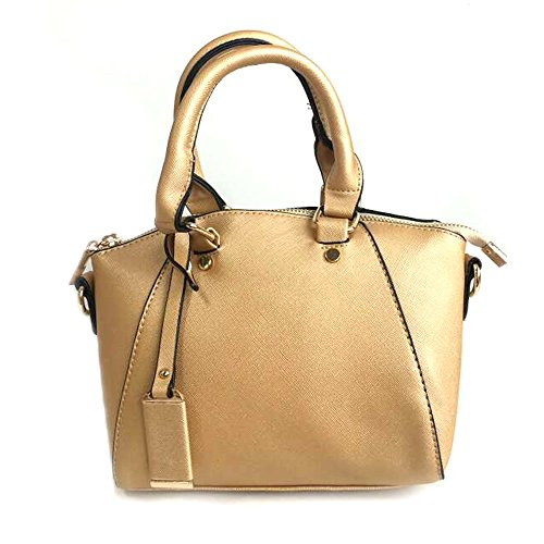 LS with Charm Handbags Totes detachable Leather Strap Gold Long Grab Shoulder and Adjustable PU Bags Satchel Ladies rtxngwrz4q