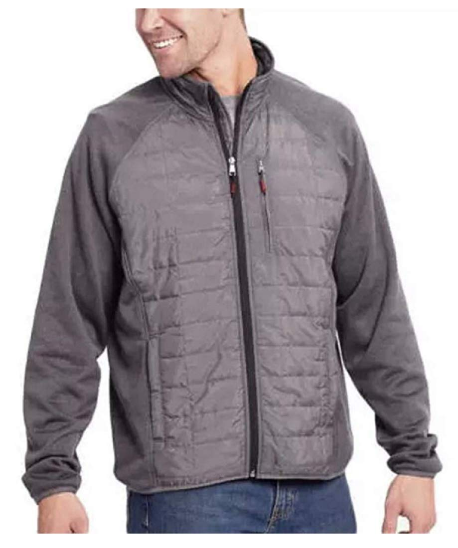 Orvis Men's Mixed Media Full Zipper Quilted Jacket, Charcoal, Size XL by Orvis
