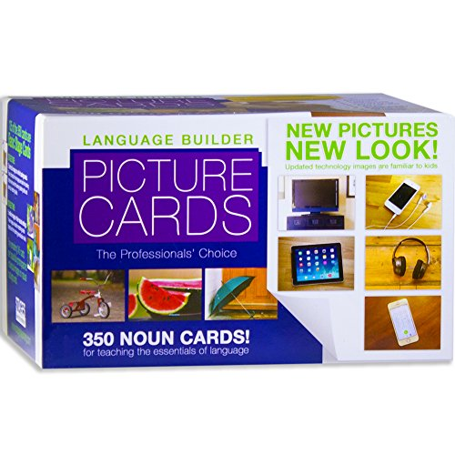 Stages Learning Materials Language Builder Picture Noun Flash Cards Photo Vocabulary Autism Learning Products for ABA Therapy and Speech Articulation (Autism Pictures)