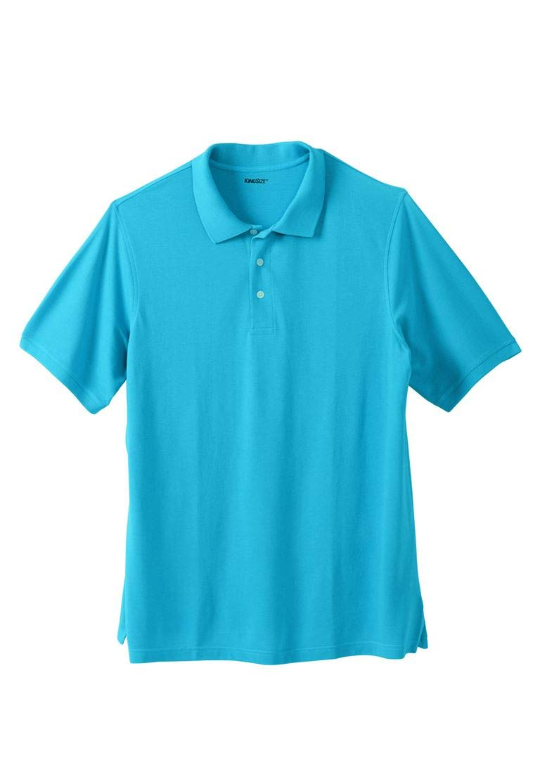 KingSize Men's Big & Tall Piqua Polo Shirt, Light Blue Tall-5Xl