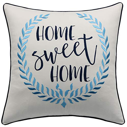 (YugTex Pillowcases Home Sweet Home Pillow,New Home Gift,First Home Gift,Farm Decor,Farmhouse Pillow,Phrase Pillow,Home Pillow,Cottage Decor,Wreath Pillow (18