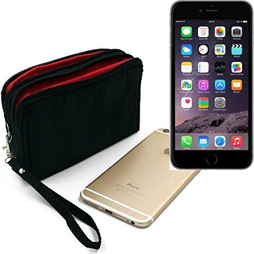 Belt Pack pour Apple iPhone 6, noir. Sac de Voyage, couverture protection body bag Étui housse ceinture. | Poche Outdoor Case camping - K-S-Trade (TM)