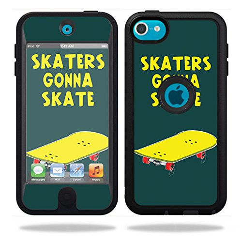 MightySkins Skin Compatible with OtterBox Defender iPod Touch 5G Case - Skaters Gonna Skate   Protective, Durable, and Unique Vinyl wrap Cover   Easy to Apply, Remove   Made in The USA (Ipod 5 Case Skate)