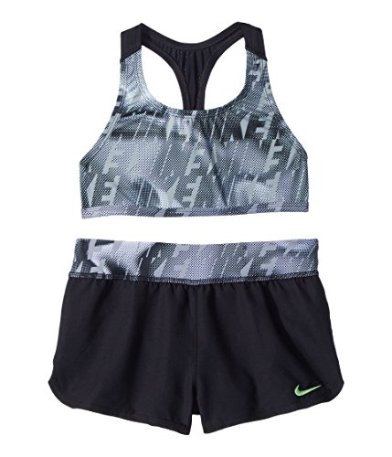 Nike 13 Inch Shorts - Nike Kids Girl's Amp Axis Racerback Sport Top Short Set (Big Kids) Black 8