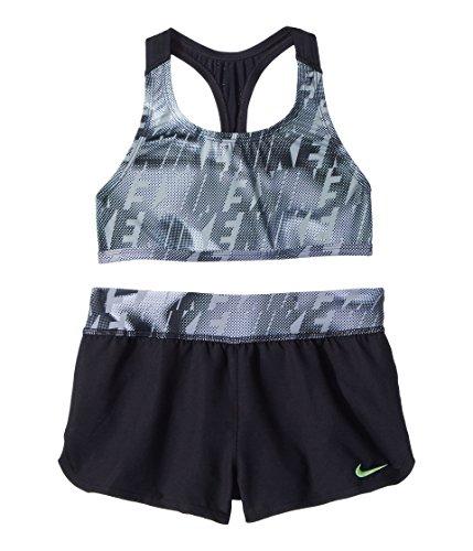 (Nike Kids Girl's Amp Axis Racerback Sport Top Short Set (Big Kids) Black 7)