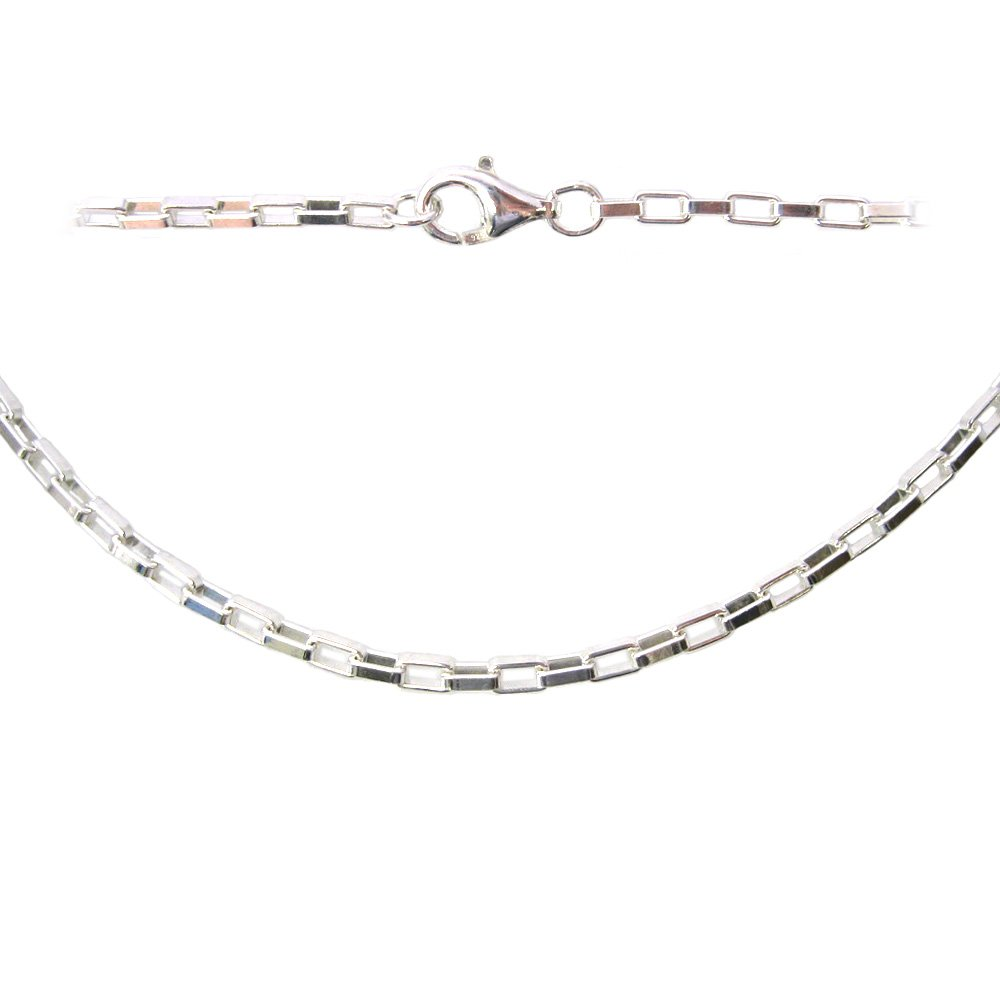 Silver Anklet Chain Long Necklace Sterling Silver Necklace Chain Silver Bracelet Chain All Sizes Heavy Long Box