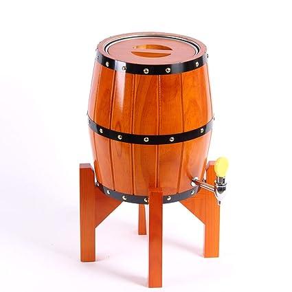XUEYAN Barril de Roble, envase de Vino de elaboración casera, dispensador de Cerveza,