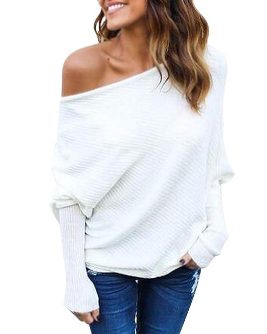 Minetom Mujer Moda Suéter Largo Casual Jersey Prendas de Punto de ...