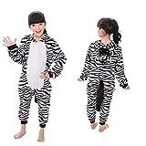 Vimans Girls Onesie Flannel Kigurumi Pajamas Kids One Piece Warm Jumpsuit